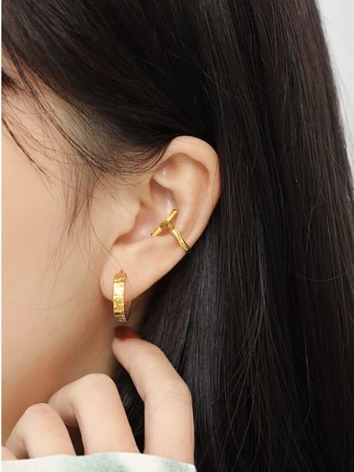 Dak Phoenix 925 Sterling Silver Cross Minimalist Stud Earring[Single] 3